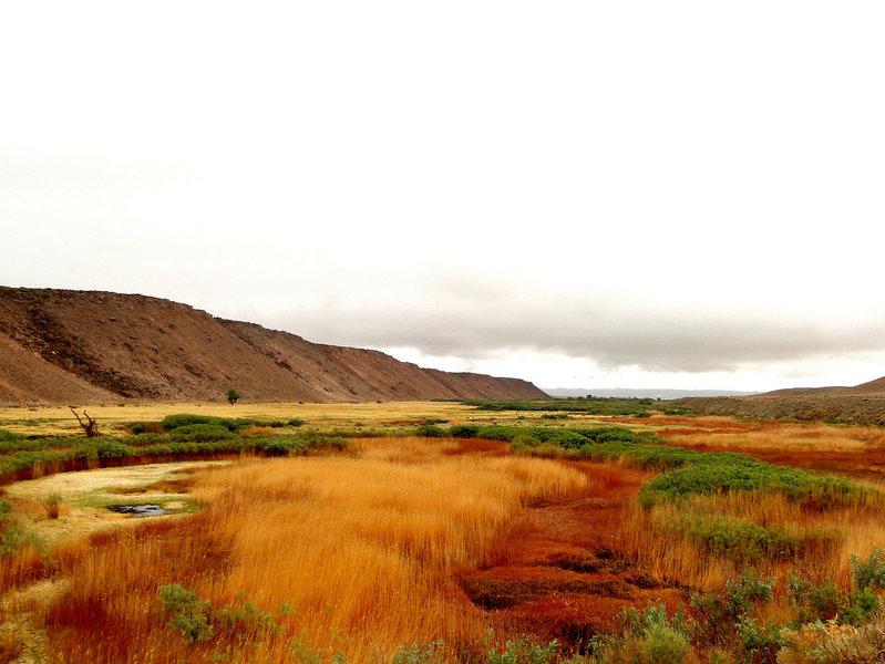 Post-storm colors, Owens River Valley, Sierra Eastside CA