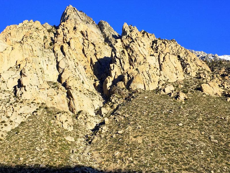 Better shot of the Scheelite Wall area.