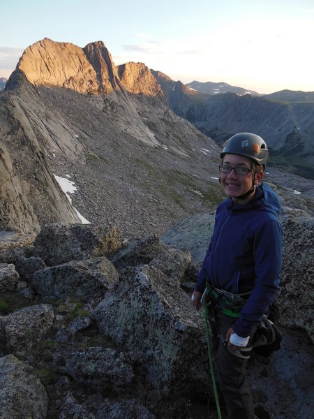 Early start on Steeple peak with Lowe (13)