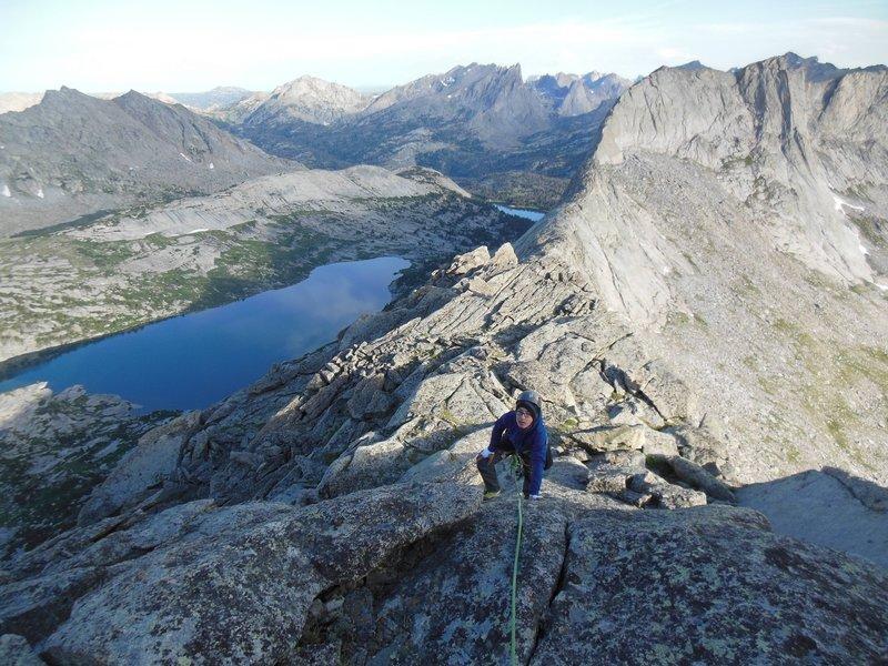 Lowe (13) climbing Steeple Peak.