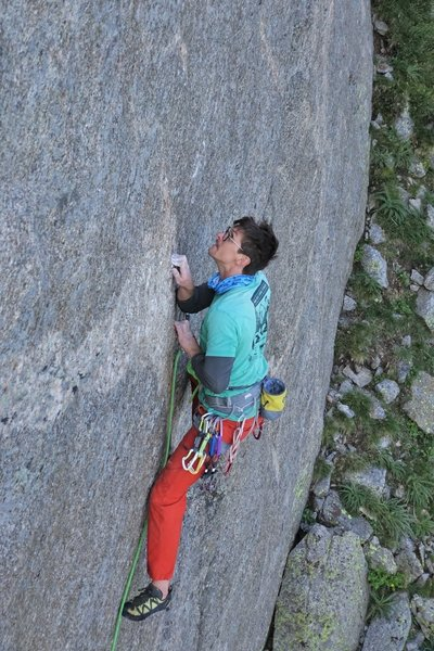 Lane Mathis crimping hard on the FA of Homesick.<br> <br> Photo: Robert Mascarenas.