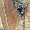 Micah Smith sending Yin and Yang in Calico Basin. Circa 2003 on Kodak film.