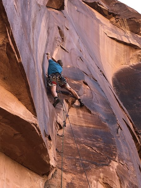 Before the bolts went in. The crux gear is tiny and reachy to place.