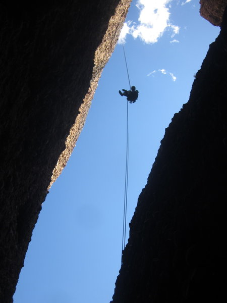 The free rappel from Rap Station 2 to 3.