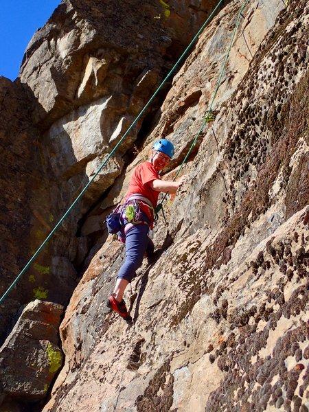 Happy climber at the start