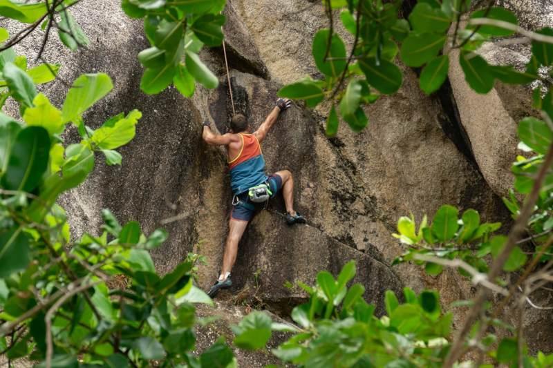 reaching up after a balancy high heel