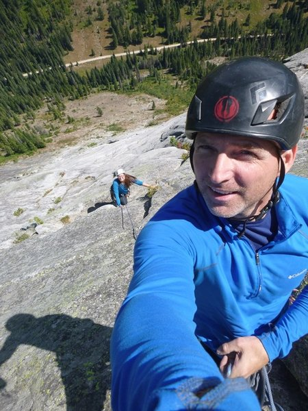 Having fun topping out on the regular route