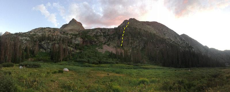 Our North Ridge variation start.
