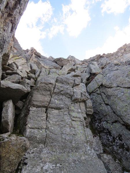Left Chimney of N Wall, 4th crux.