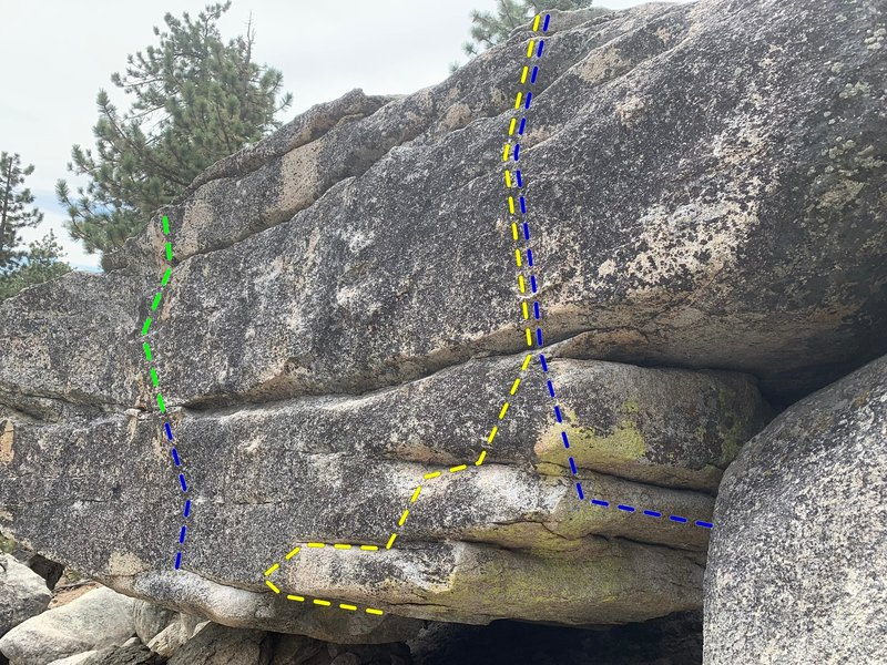 Northeast face of the Master boulder