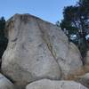 First boulder you see when entering the campground.