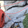 2 bolts and chains at the 2nd belay. They are rusty so backup with a gear piece.