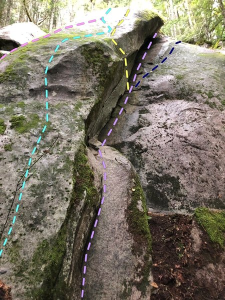 Leeper's Z (5.7) from Sept. 2019 and nearby routes.