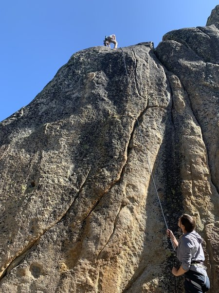 Route goes up close to the arete for the most part
