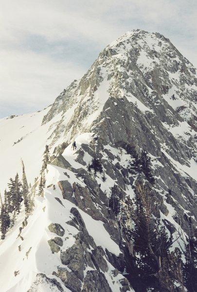 North ridge from small pass