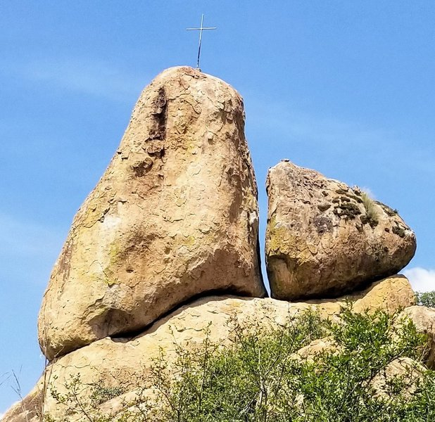 On the left Boulder, towards the right, between the two