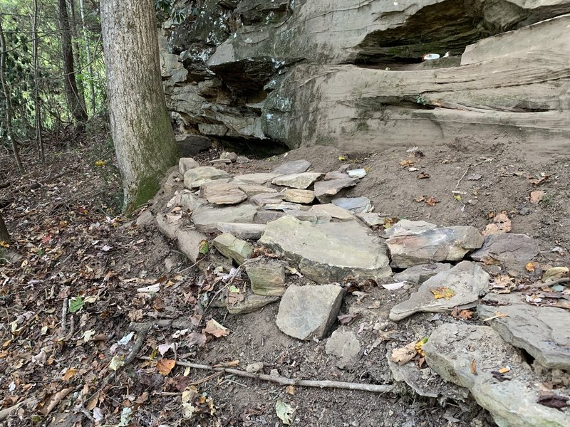 The small rock patio
