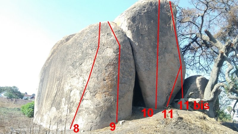 Main boulder in Athlone, South face.
