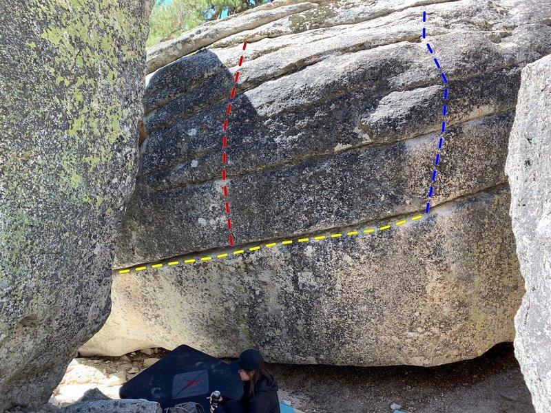 East face of Derailed boulder