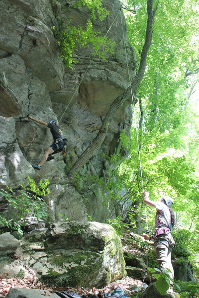 """The largest cliff face at Firetown. Located in the """"Crumble Crag"""" area."""