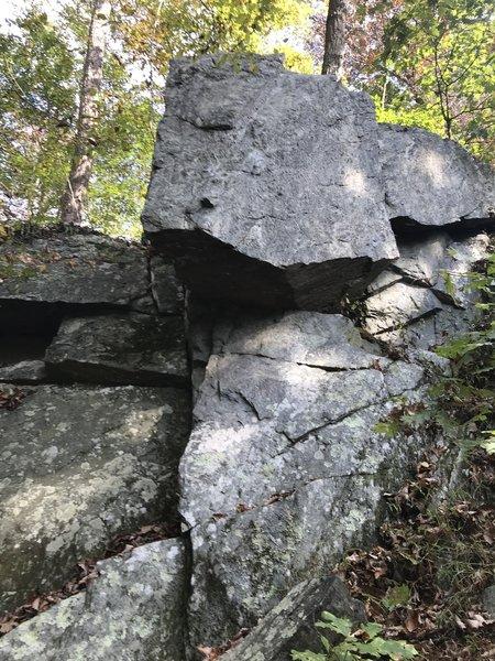 Overhanging Block