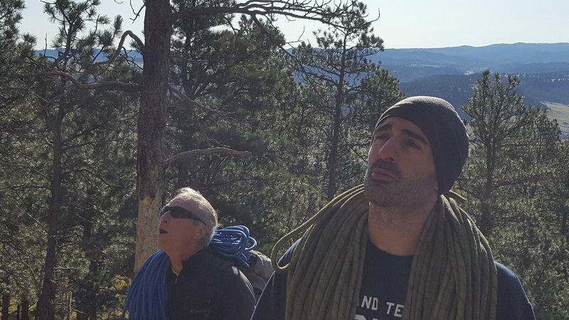 Danny Rider and John Inzanti seeing Devils Tower up close for the first time. 9-13-19