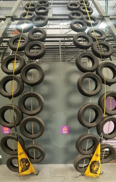 Be sure to check out the tire wrangling course. Race your friends for beverages :-)