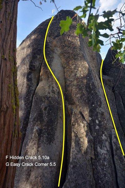 Hidden Crack 5.10a Donnell Vista Parking Lot