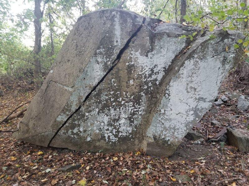 One face on the triple splitter boulder