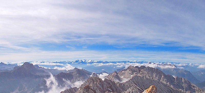 View looking toward Austria from the Hochkalter summit