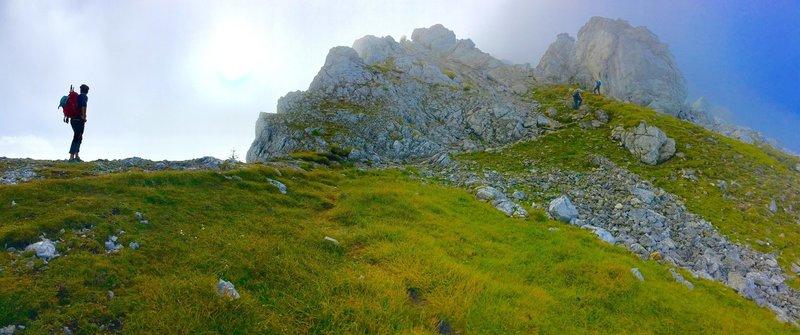Start of the Hochkalter Traverse, Berchtesgaden National Park