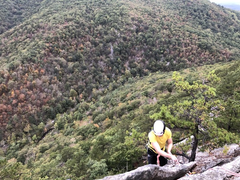 Topping out on the Bulge. Can't beat the Buzzard Rock view