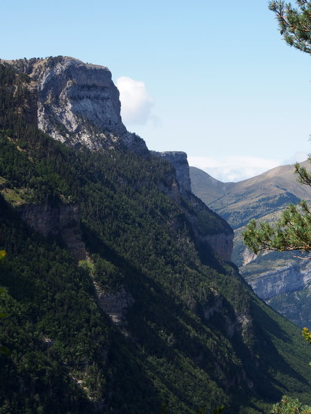 Fruacata Photo 5 - Looking Down-Valley at the cliffs on the South Wall of the Valley