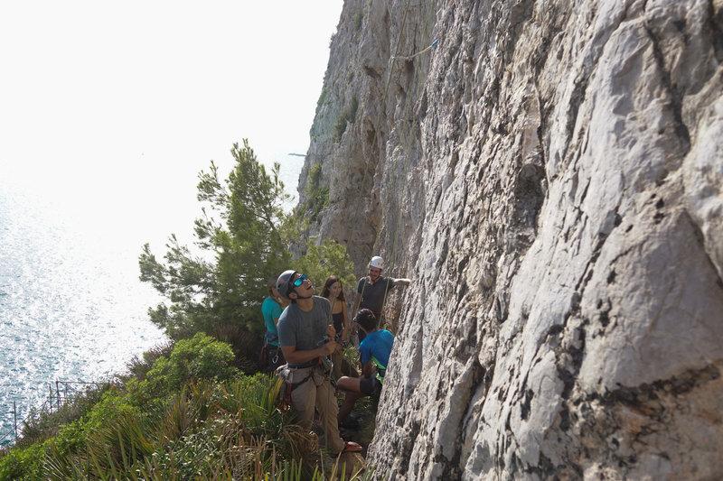 A hot day on El Coti slab