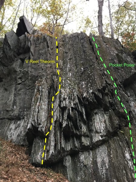 Main face of the Bunker Hill crag.