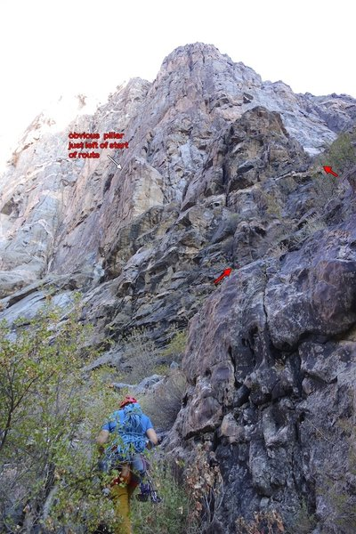 Beta photo for the approach to Russian Arete.
