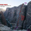 A route overlay of Russian Arete.