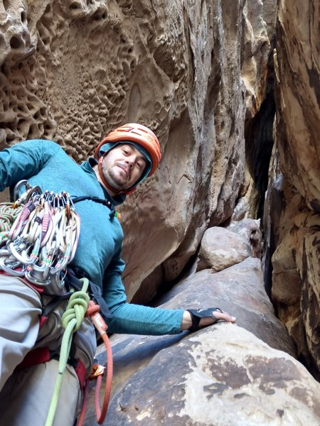 Photo from where the described first belay is. (Our second belay)