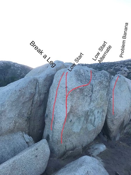 Left side of Central Boulder