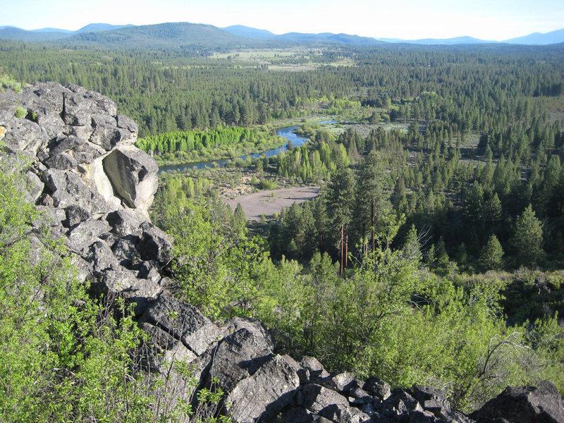 "Photo of Williamson Cliffs overlook. (Courtesy of ""Skeates"")"