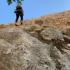 Big booty rappel off the back of Pagoda rock