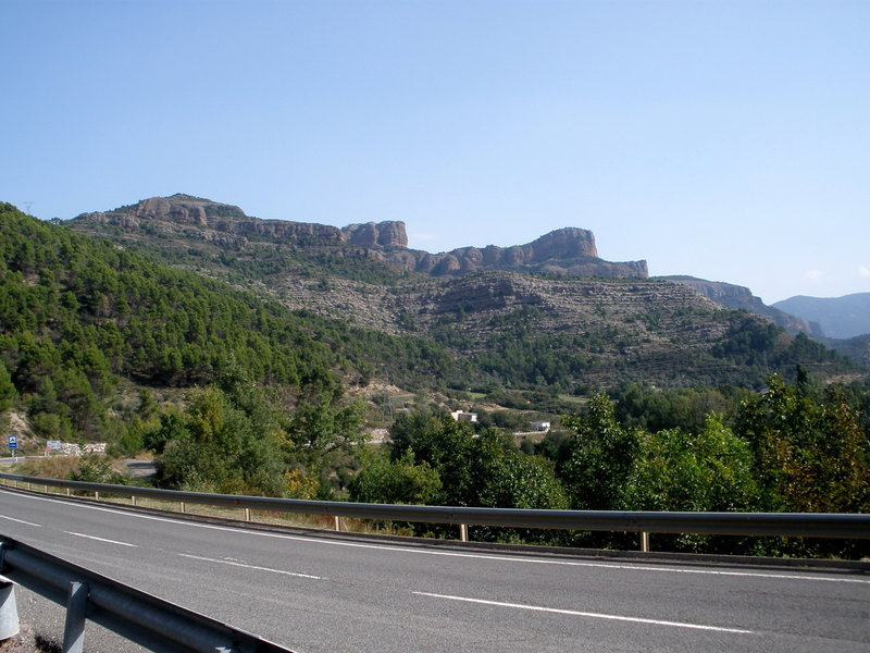 So Much Rock ! (and that's about 1/10th of it !)  View from Rt 260 a couple of miles north of La Pobla de Segur