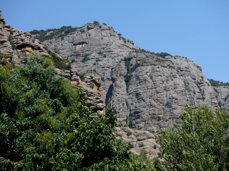 View of just a tiny amount of the rock near the river-side picnic area