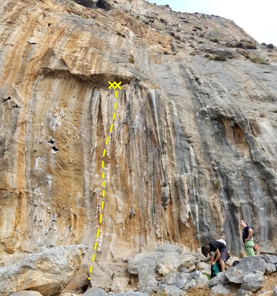 A short and unique tufa climb with a one move showstopper at the start.
