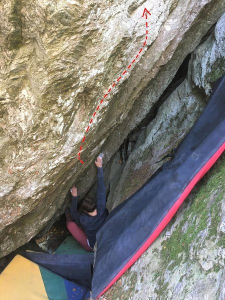 The starting positioning of the climb.