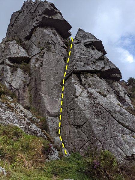 Start of Great Gully Ridge
