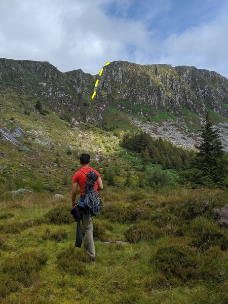 Great Gully Ridge Route line