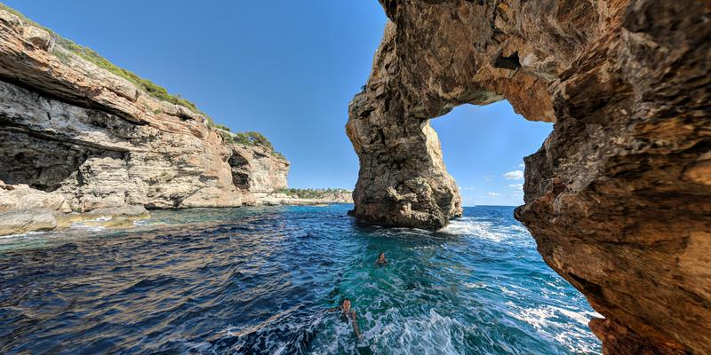 Unique view from under Es Pontàs, Mid-October 2019