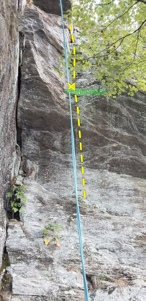 Rite for the Sprite directly in the line of the rope
