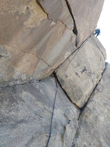 Leading the second pitch of Roboranger 5.5